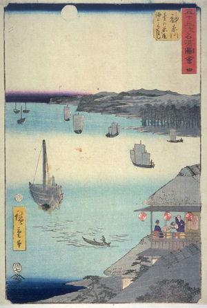Utagawa Hiroshige: Unidentified harbor scene , probably from an unidentified Tokaido set - Legion of Honor