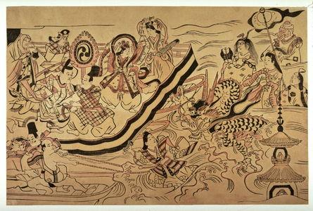 Sugimura Jihei: Tamatori Retrieving the Jewel from the Dragon Lamp - Legion of Honor