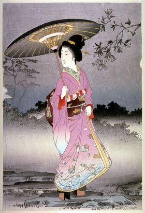 渡辺延一: [Woman with an Umbrella] - Legion of Honor