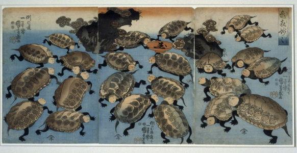 歌川国芳: Strange and Wondrous Immortal Turtles - Legion of Honor