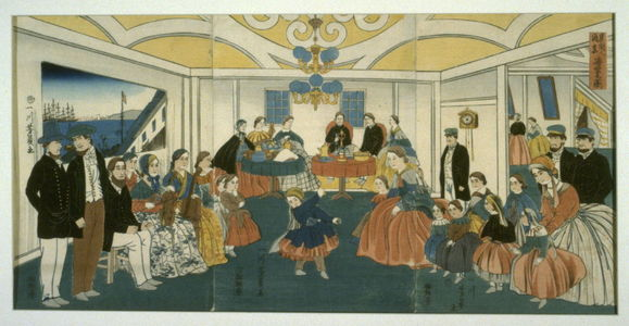 歌川芳員: Banquet and Musicale in a Foreigner's Home - Legion of Honor