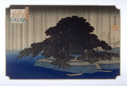 Unknown: copy after Night Rain on the Karasaki Pine (Karasaki no yau), from the series Eight Views of Omi Province (Omi hakkei) - Legion of Honor