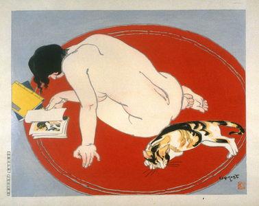 Ishikawa Toraji: Leisure Hours (Nude and Cat) - Legion of Honor