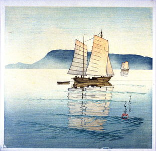 川瀬巴水: Ships in the Sea - Legion of Honor