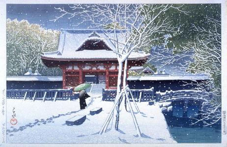 川瀬巴水: A Temple Gate in Shiba Park, Tokyo - Legion of Honor