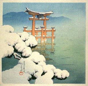 Kawase Hasui: Lingering Snow at Miyajima - Legion of Honor