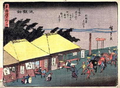 歌川広重: Chiryu, no. 40 from a series of Fifty-three Stations of the Tokaido (Tokaido gojusantsugi) - Legion of Honor