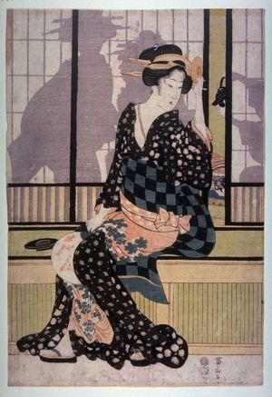 菊川英山: Furyu yusuzumi sanbijin (Three elegant women enjoying the evening cool) - Legion of Honor