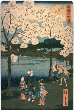 二歌川広重: Shinobazu Pond (Shinobazu ike) from the series Thirty-six Views of the Eastern Capital (Toto sanjurokkei) - Legion of Honor