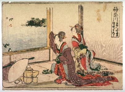 Katsushika Hokusai: Kanagawa, no. 4 from an untitled Tokaido series (reissue of Hokusai's Tokaido series for poetry circle of Okazaki) - Legion of Honor