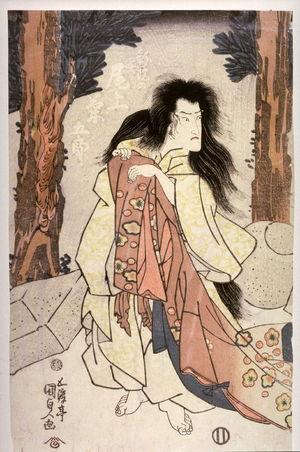 歌川国貞: Onoe Kikugoro III as the ghost of the courtier Shin'in - Legion of Honor