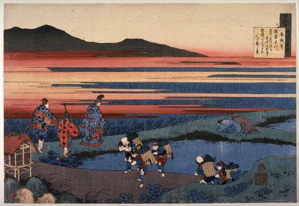 葛飾北斎: No. 39 by Sangi no Hitoshi, from the series The Hundred Poems Explained by an Old Nurse (Hyakunin issshu uba ga etoki) - Legion of Honor