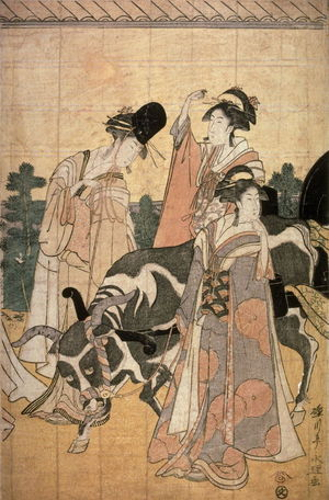 Eiri: Return of Prince Genji from a Shinto Shrine, part 4 of a pentaptych - Legion of Honor