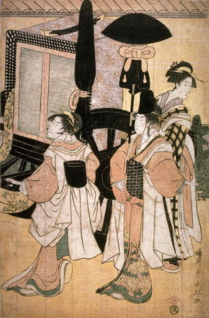 Eiri: Return of Prince Genji from a Shinto Shrine, part 5 of a pentaptych - Legion of Honor