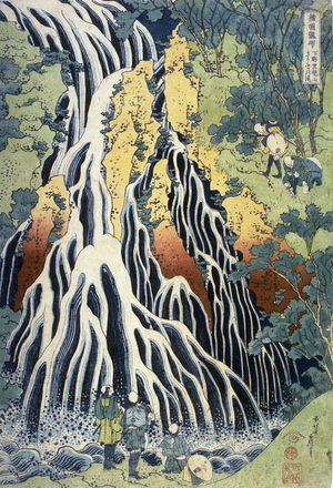 葛飾北斎: Kirifuri Waterfall at Mount Kurokami in Shimotsuke Province, from the series A Tour of Waterfalls in the Provinces - Legion of Honor