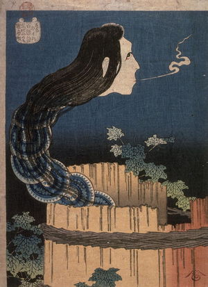 Katsushika Hokusai: The Dish Mansion, from the series One Hundred Ghost Stories - Legion of Honor
