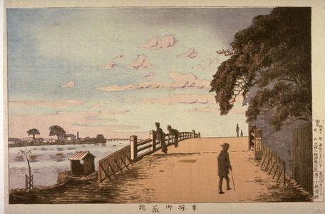 小林清親: The Okura( or Mikura) Bridge in Honjo (Honjo okurabashi) from an untitled series of views of Tokyo - Legion of Honor