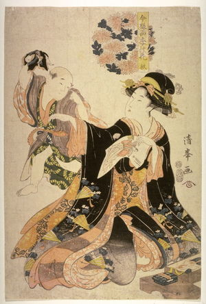 Torii Kiyomine: Autumn (Aki) from the series Modern Flowers of the Four Seasons(Imayo shiki no hana) - Legion of Honor