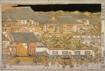 Utagawa Toyoharu: The Arrival of the Rat Bride (Nezumi yomeiri no zu) - Legion of Honor