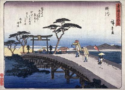 歌川広重: Kakegawa, no. 27 from a series of Fifty-three Stations of the Tokaido (Tokaido gojusantsugi) - Legion of Honor