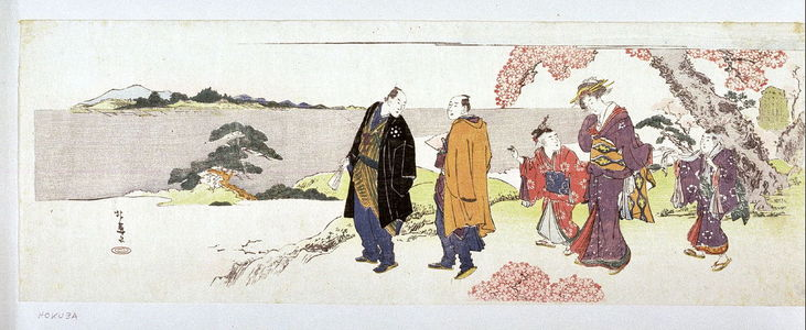 蹄斎北馬: Viewing Cherry Blossoms at Asuka Hill - Legion of Honor