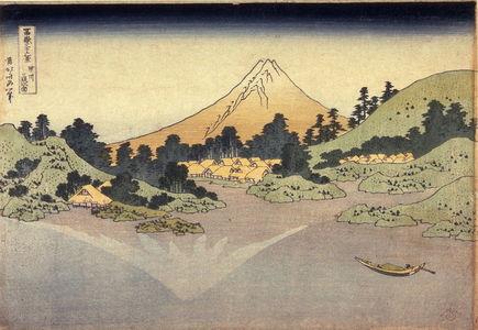 葛飾北斎: Surface of Lake Misaka in Kai Province (Koshu misaka suimen), from the series Thirty-six Views of Mt. Fuji (Fugaku sanjurokkei) - Legion of Honor