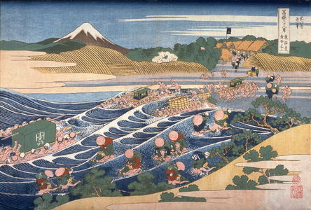 Katsushika Hokusai: Fuji from Kanaya on the T?kaid?, from the series Thirty-Six Views of Mount Fuji - Legion of Honor