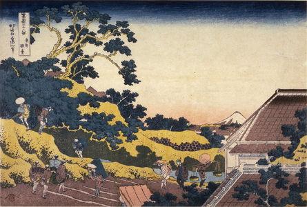 Katsushika Hokusai: Fuji from Surugadai in Edo, from the series Thirty-Six Views of Mount Fuji - Legion of Honor