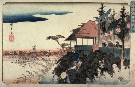 歌川広重: Eastern Approach to the Myojin Shrine in Kanda (Kanda myojin higashizaka), from a series Famous Places in the Eastern Capital (Toto meisho) - Legion of Honor