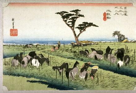 Utagawa Hiroshige: Summer Horse Market at Chiryu (Chiryu shuka umaichi), no. 40 from the series Fifty-three Stations of the Tokaido (Tokaido gosantsugi no uchi) - Legion of Honor