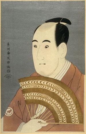 Toshusai Sharaku: The Actor Sawamura Sojuro III, plate 2 from the portfolio Sharaku, Vol. 1 (Tokyo: Adachi Colour Print Studio, 1940) - Legion of Honor