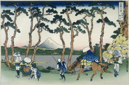Katsushika Hokusai: Tokaido Hodogaya - from 36 Views of Fuji - Legion of Honor