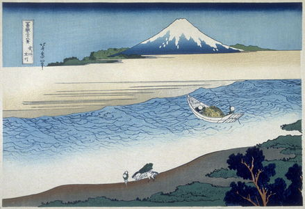 葛飾北斎: Bushu Tamagawa - from 36 Views of Fuji - Legion of Honor