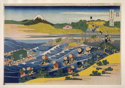 Katsushika Hokusai: Tokaido Kanaya-Fuji - from 36 Views of Fuji - Legion of Honor