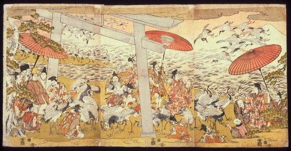 無款: Lord Yoritomo Releasing Cranes at Yuigahama - Legion of Honor