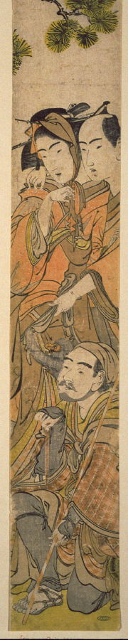 Kitao Masanobu: Lovers and Traveling Performer with Monkey - Legion of Honor