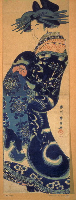 Katsukawa Shunsen: Courtesan Facing Left - Legion of Honor