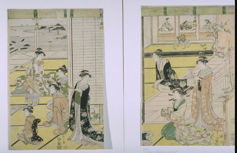 Eishi: Women Preparing for a Poetry Gathering to Celebrate the New Year, possibly from the Tale of Genji - Legion of Honor