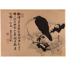 Kawanabe Ky?sai: Crow on a Snowy Plum Branch - Legion of Honor