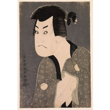 Toshusai Sharaku: The Actor Sakata Hangoro III as Fujikawa Mizuemon in the Play Hana ayame Bunroku Soga, Miyako Theater, from an untitled series of half-length portraits of actors - Legion of Honor