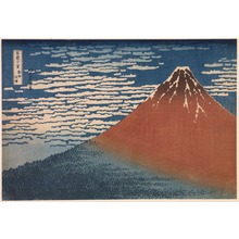 Katsushika Hokusai: Fuji in Clear Weather (Red Fuji) (Gaif? kaisei), from the series Thirty-Six Views of Mount Fuji (Fugaku sanj?rokkei) - Legion of Honor