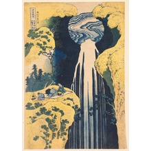 Katsushika Hokusai: The Amida Waterfall in the Depths of the Kiso Mountains, from the series A Tour of Waterfalls in the Provinces - Legion of Honor