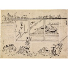 Ishikawa Ry?sen: Shopkeeper Tossing Cakes to Children, Illustration for the Eleventh Month, (Shimotsuki) from an untitled series of the 12 months - Legion of Honor