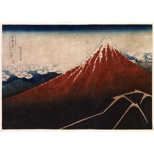 葛飾北斎: Storm below the Mountain (Fuji above the Lightning), from the series Thirty-Six Views of Mount Fuji - Legion of Honor