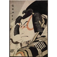 歌川国政: Bust Portrait of the Actor Nakamura Nakaz? II as Matsuomaru in the 'Carriage-Stopping' Scene in the Play 'Sugawara?s Secret' at the Miyako Theater - Legion of Honor