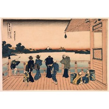 Katsushika Hokusai: Fuji from the Sazai Hall at the Temple of the Five Hundred Rakan, from the series Thirty-Six Views of Mount Fuji - Legion of Honor