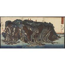 歌川国芳: A Picture of Enoshima Island in Sagami Province (Soshu enoshima no zu) - Legion of Honor