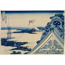 葛飾北斎: Fuji from the Hongan Temple at Asakusa in Edo, from the series Thirty-Six Views of Mount Fuji - Legion of Honor