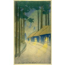 Bertha Lum: Road throuh the Forest at Nikko - Legion of Honor