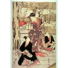 Utagawa Toyokuni I: Three Dancers on a Stage, panel from a pentaptych - Legion of Honor